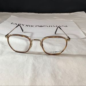 Emporio Armani Antique Tortoise Gold Eyeglasses